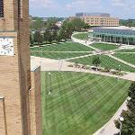 AERIAL VIEWS OF THE FERRIS CAMPUS ON A WARM AND SUNNY DAY.