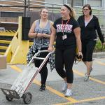 HONORS STUDENTS BEGAN MOVING INTO THEIR RESIDENCE HALLS.