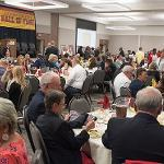 THE ATHLETICS HALL OF FAME HELD ITS INDUCTION CEREMONY BEFORE A SOLD OUT CROWD.