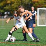 THE WOMEN'S SOCCER TEAM EXPLODED FOR 5 GOALS TO ROUT NORTHWOOD, 5-0.