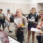 HUNDREDS OF STUDENTS ATTENDED THE ACADEMIC SUCCESS FAIR AT THE UNIVERSITY CENTER.