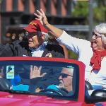 ALUMNUS TOM COOK AND HIS WIFE JANICE WERE GRAND MARSHALS FOR THE HOMECOMING PARADE