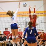BULLDOG VOLLEYBALL DEFEATED ARCH-RIVAL GRAND VALLEY, 3-0.