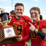 BULLDOG FOOTBALL RECLAIMED THE ANCHOR-BONE TROPHY FROM GRAND VALLEY WITH A 28-27 WIN OVER THEIR ARCH-RIVALS.