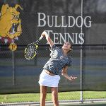 WOMEN'S TENNIS HOSTED NORTHWOOD AND SAGINAW VALLEY IN GLIAC ACTION.