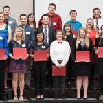 THE HONORS PROGRAM HELD ITS 4.0 (GPA) DINNER AND AWARDS NIGHT.