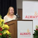CRIMINAL JUSTICE STUDENT KAYLEIGH SCHROPP SPOKE ABOUT THE VALUE OF HER FERRIS FOUNDATION OPPORTUNITY SCHOLARSHIP.