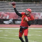 FERRIS TRAILED 13-0 IN THE FIRST HALF BEFORE THE OFFENSE GOT ON TRACK.