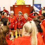 FERRIS IS THE FIRST TEAM IN GLIAC HISTORY TO WIN FOUR STRAIGHT VOLLEYBALL TOURNAMENT TITLES.