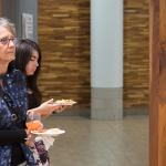 THE FSU FINE ART GALLERY HOSTED A RECEPTION FOR LANDSCAPE ARTISTS ED WONG-LIGDA AND BILL HOSTERMAN.