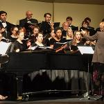 THE FSU JAZZ BAND AND CHOIR PERFORMED ITS HOLIDAY CONCERT AT THE BIG RAPIDS HIGH SCHOOL AUDITORIUM.