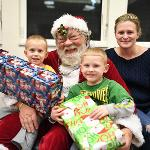 THE HOLIDAY BESTOW FEATURED A GIFT EXCHANGE AND A JOLLY SANTA.