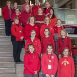 "EMPLOYEES SUPPORTED ""NATIONAL WEAR RED DAY"" AND WOMEN'S HEART HEALTH AWARENESS."