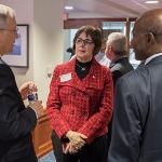 PRESIDENT EISLER EMPHASIZED THE IMPORTANCE OF STATE SUPPORT FOR FERRIS STUDENTS.