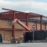 PROGRESS CONTINUES ON THE STUDENT RECREATION CENTER EXPANSION PROJECT.
