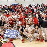 BULLDOG MEN'S BASKETBALL WON A FOURTH STRAIGHT GLIAC TOURNAMENT CHAMPIONSHIP.