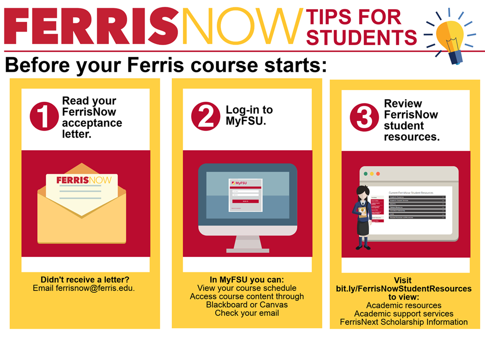 Steps for New FerrisNow Students