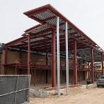 STEADY PROGRESS CONTINUES ON THE STUDENT RECREATION CENTER EXPANSION PROJECT.