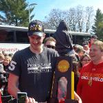 ZACH HANKINS AND THE NCAA CHAMPIONSHIP TROPHY