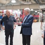 GOV. SNYDER'S VISIT TO THE SWAN ANNEX EXPANSION PROJECT