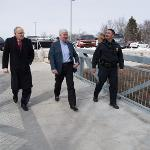 GOV. SNYDER TOURED THE ONGOING PROGRESS OF THE SWAN ANNEX EXPANSION PROJECT.
