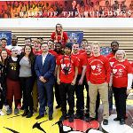 THE EVENT WAS SPONSORED BY THE SPORTS CAREERS RSO. . .