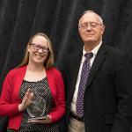ANNE SPAIN RECEIVED THE OUTSTANDING FIRST YEAR ADVOCATE AWARD.