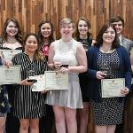STUDENTS WHO DEMONSTRATED OUTSTANDING LEADERSHIP AND OVERALL EXCELLENCE WERE HONORED WITH THE TORCHBEARER AWARD.