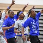 THE BLACK GREEK COUNCIL HOSTED ITS ANNUAL STEP SHOW TO CONCLUDE BLACK ALUMNI WEEKEND.