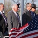 THE CEREMONY HONORS THOSE WHO CURRENTLY SERVE IN LAW ENFORCEMENT. . .