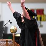 DR. MCKAY JOINS IN THE CELEBRATION OF THE NEW GRADUATES FOR HER ALMA MATER.