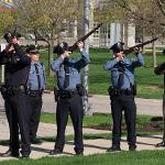 21-GUN SALUTE AT THE POLICE MEMORIAL CEREMONY