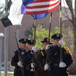 THE 15th ANNUAL POLICE MEMORIAL CEREMONY WAS HELD OUTSIDE THE FLITE LIBRARY.