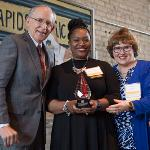TERESA WEATHERALL NEAL, SUPERINTENDENT OF GRAND RAPIDS PUBLIC SCHOOLS, WAS HONORED.