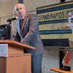 PRESIDENT DAVID EISLER PRAISED THE PARTNERSHIP THAT FOSTERS STUDENT SUCCESS IN GRAND RAPIDS.