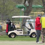 GOLFERS BRAVED THE RAINY WEATHER TO ENJOY SOME FRIENDLY COMPETITION AND CAMARADERIE.