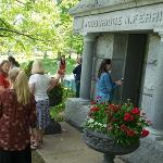 THE MAUSOLEUM IS LOCATED IN BIG RAPIDS' HIGHLAND VIEW CEMETERY.