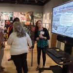 A POSTER PRESENTATION WAS HOSTED BY THE FERRIS ART GALLERY WHERE THE GRADUATES SHARED THEIR WORK.