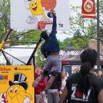 THE TOURNAMENT INCLUDED A SLAM DUNK CONTEST.