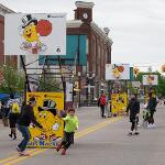 THE GUS MACKER 3-ON-3 BASKETBALL FESTIVAL MADE A VISIT TO BIG RAPIDS.