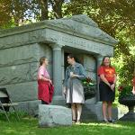 THE HISTORY TASK FORCE OPENED THE FERRIS FAMILY MAUSOLEUM FOR PUBLIC VIEWING.