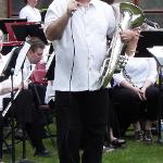 MUSICIAN ED MALLETT WAS FEATURED ON THE EUPHONIUM.