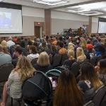 STUDENTS AND THEIR FAMILIES WERE INTRODUCED TO THE CAMPUS AND ITS SERVICES. . .