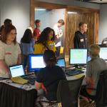STUDENTS HAD THE OPPORTUNITY TO REGISTER FOR FALL CLASSES AT ORIENTATION.