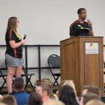 . . .DURING WELCOME SESSIONS CONDUCTED BY THE ORIENTATION STAFF.