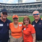 "THE ALUMNI ASSOCIATION HOSTED ""A DAY AT THE BALLPARK"" IN CHICAGO ON FATHER'S DAY."
