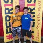 "STUDENTS LEARNED ABOUT THE ""FERRIS FIRST"" CAMPAIGN DURING ORIENTATION."