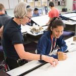 STUDENTS EXPLORE THEIR CREATIVE SIDE DURING THE FIVE-DAY ARCHITECTURE DESIGN CAMP.