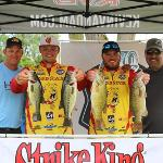 THE BULLDOGS WERE GREETED BY BASS MASTERS AND TV PERSONALITIES KEVIN VANDAM (L) AND MARK ZONA (R).