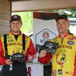THE FSU FISHING CLUB COMPETED IN THE RECENT COLLEGE BASS TOURNAMENT AT MUSKEGON LAKE.